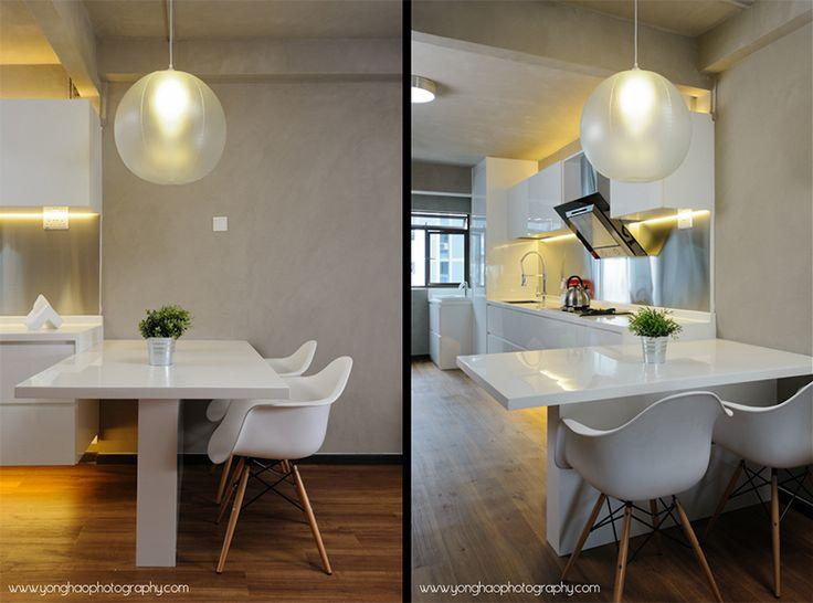 Interior Photography: Beautiful Industrial/Minimalism Themed HDB In  Chinatown · Kitchen RenoKitchen DesignMobile ...