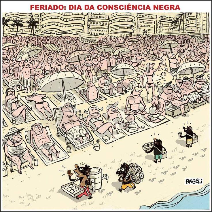 Dia da Consciência Negra por Angelí (charge na Folha de S. Paulo, 20 de novembro de 2006)