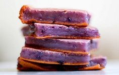 Okinawan Sweet Potato Mochi- SUB milk for almond milk- Mochiko flour = sweet white rice flour
