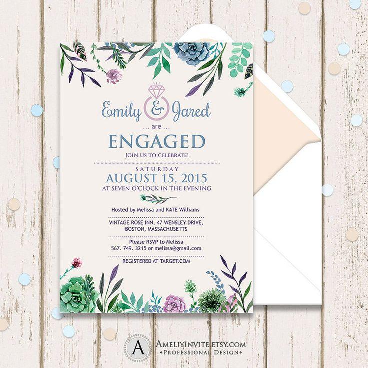 Mer enn 25 bra ideer om Engagement invitation template på - engagement party invitation template