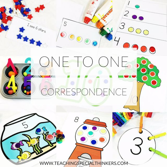 Tools for Building One-to-One Correspondence | Teaching Special Thinkers | Bloglovin'