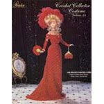 """P-055 - 1908 Beaded Theater Gown     Incomparable bead-encrusted Edwardian gown for 11 1/2"""" fashion dolls. Uses size 10 rayon, nylon or cotton crochet thread with size 10/0 silver lined rocaille beads or seed beads. Textured scallop crochet pattern using simple dc and sc stitches works up quickly.   Includes gown, gloves, shoes, purse, hat & fan"""