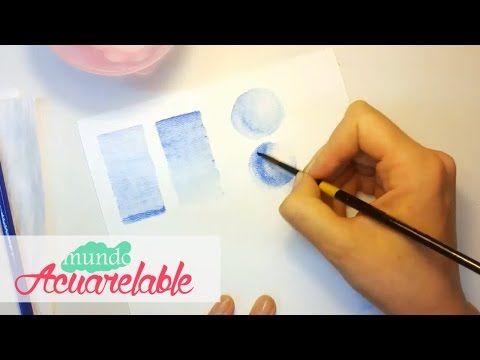 Conociendo los Lápices Acuarelables - Técnicas básicas - Parte 1 - YouTube
