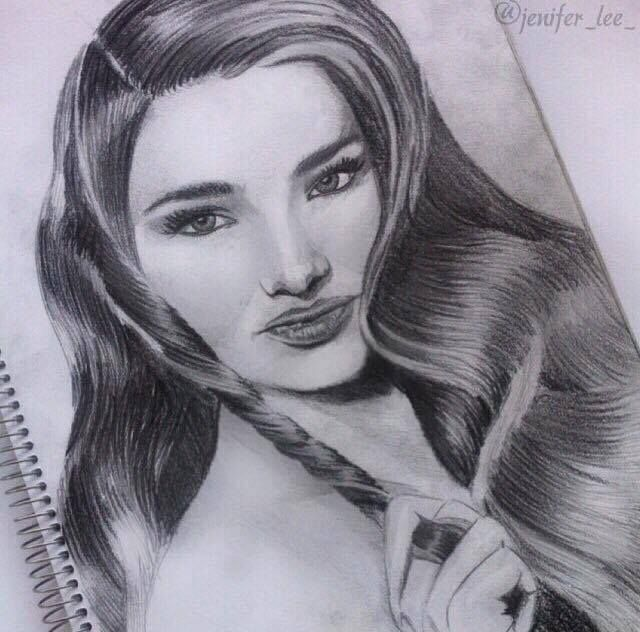Jenifer Lee - Art Miranda Kerr portrait Pacer