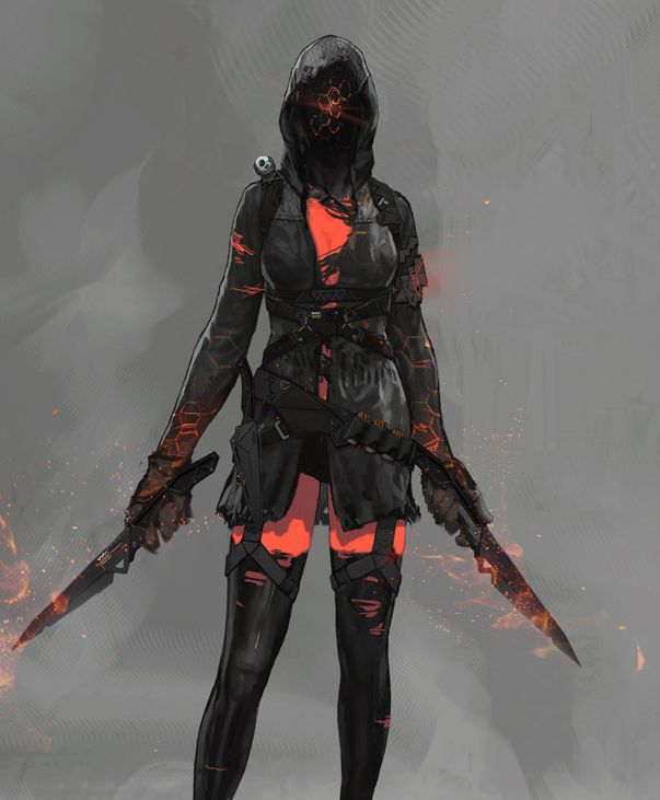 Cyber punk assassin | Female rogue/monk/assassin ...