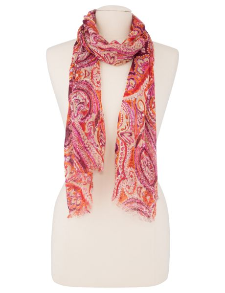 Wrap up with this lightweight paisley scarf. #NewandNow
