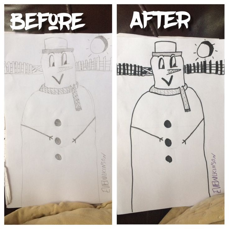 This picture is the snowman i drew. OPINIONS PLEASE!!