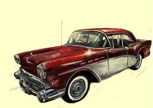 vintage car illustrations | Car Illustration -