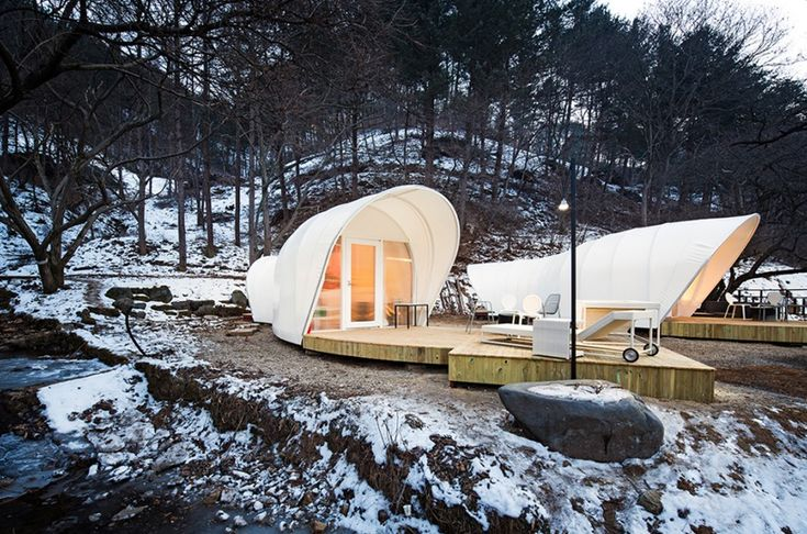 'glamping for glampers' tent village in korea by archiworkshop