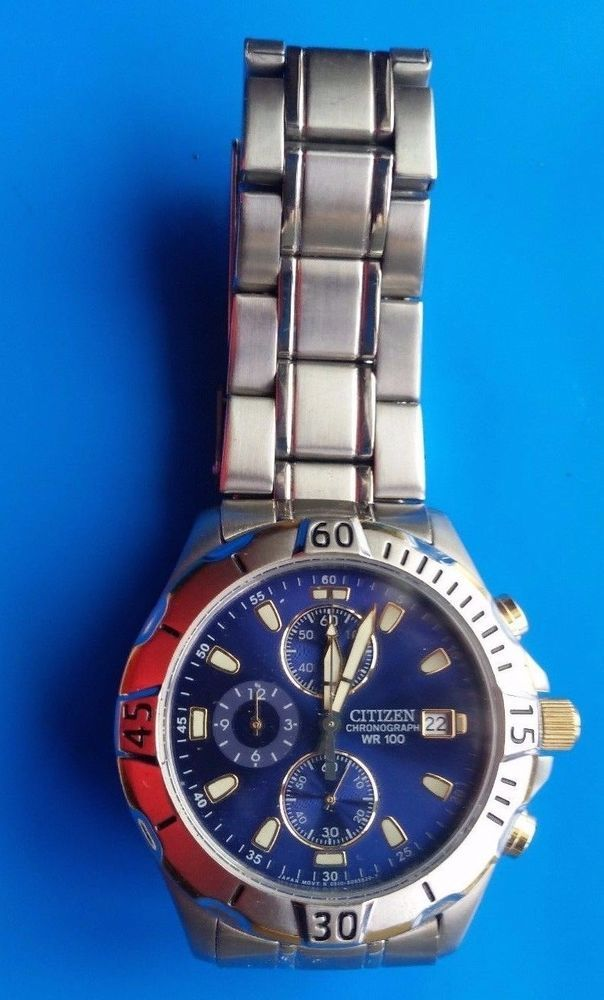 Vintage Citizen Chronograph Wr 100 Gn 4 S Mens Watch And Clocks
