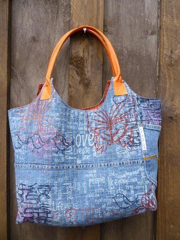 Up-cycled jeans bag by Ineke Berlyn - workshop