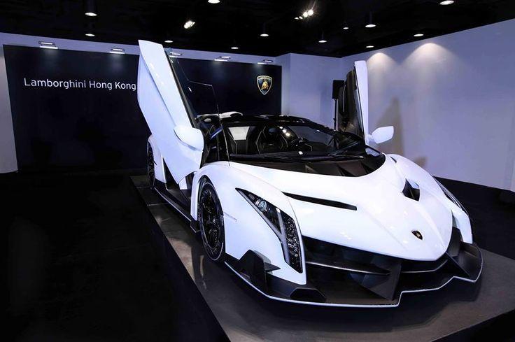 Lamborghini Veneno Roadster 2015 white