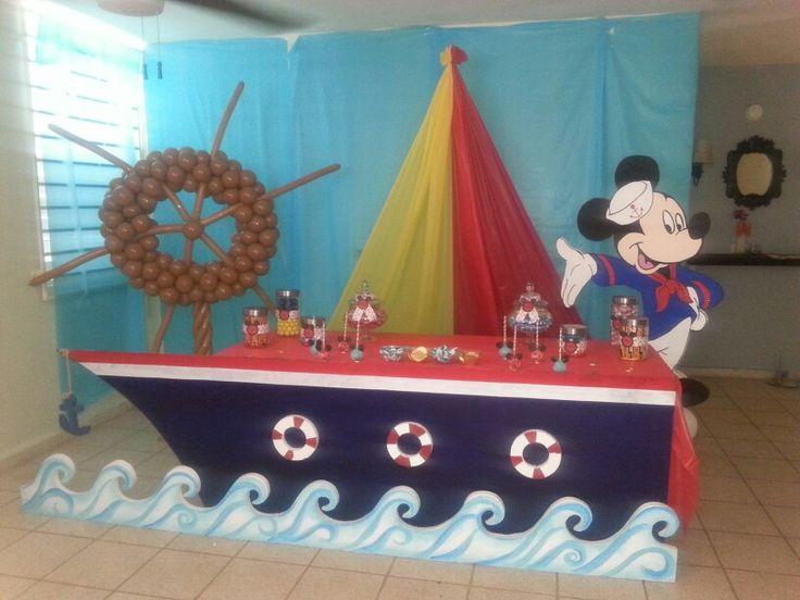 Decoracion de Mickey Marinero Bizcocho De Marinero Birthday