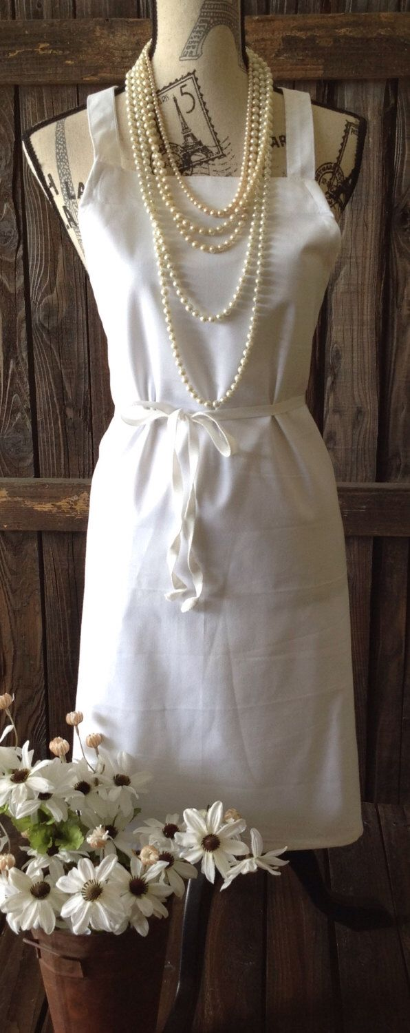 White apron etsy - White Apron Industrial Full Size Weight For Painting Sewing Appliqueing Home Living Kitchen Dining Entertaining Linens By Picadillymarket