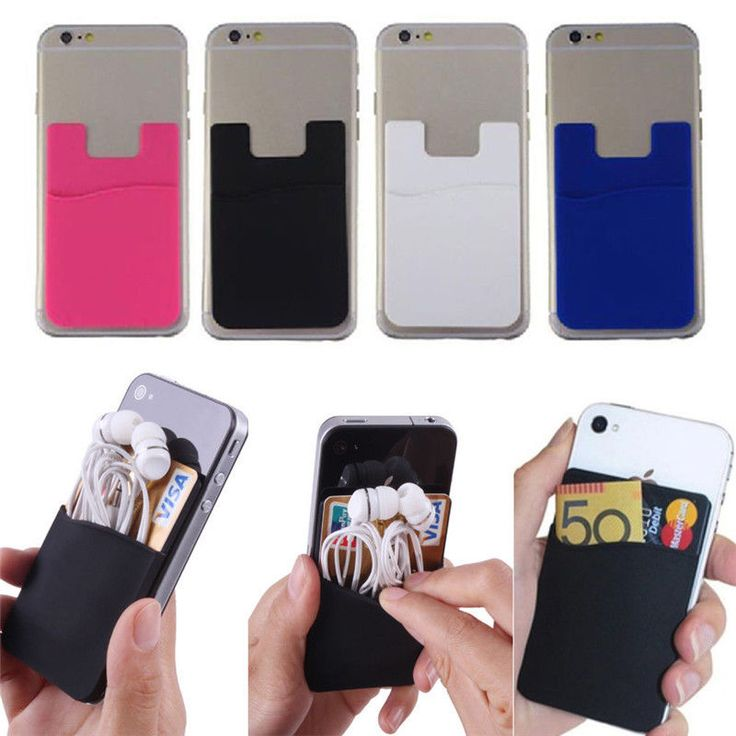 Fashion Soft Adhesive Sticker Back Cover Card Holder Case Pouch For Cell Phone #UnbrandedGeneric