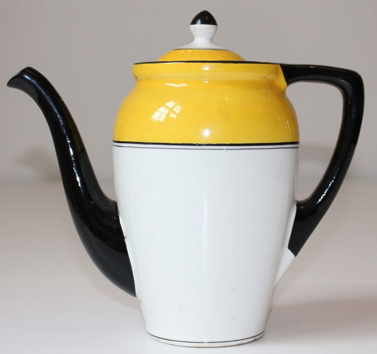 koffiepot geel, model Jacoba