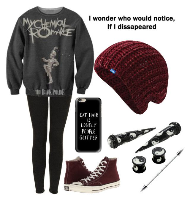 """Untitled #894"" by xxghostlygracexx ❤ liked on Polyvore featuring Topshop, Converse, Casetify and Keds"