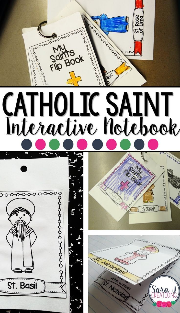 Catholic Saints for Kids!  Make awesome reference resources for kids - an interactive notebook, flip book, flashcards and more!