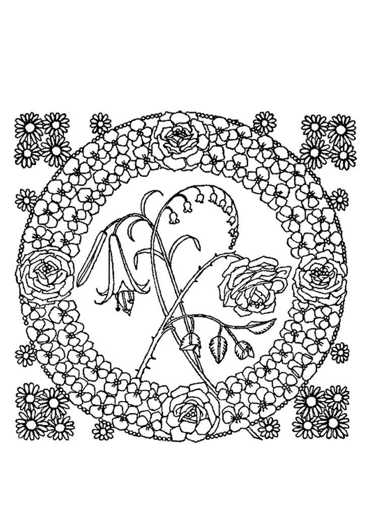 8 best images about rosaces on pinterest coloring - Dessin de rosace ...