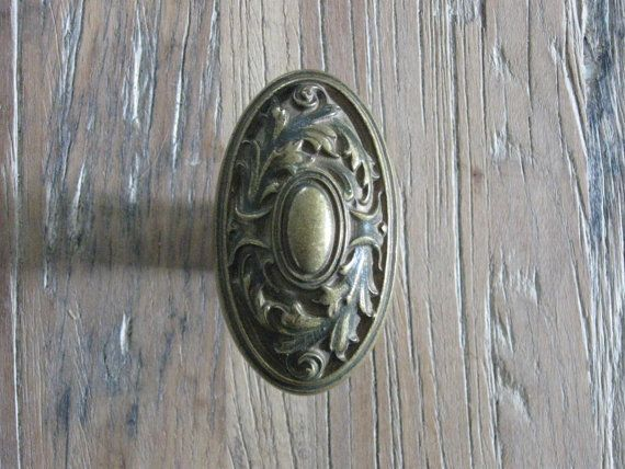 Antique Decorative Brass Oval Door Knob