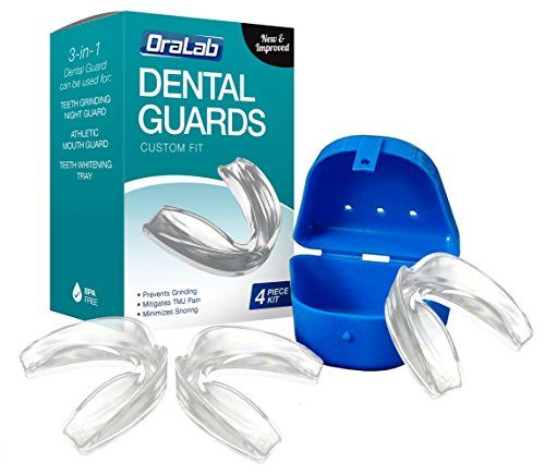 Professional Dental Guard  Pack Of 3  Stops Teeth Grinding Bruxism TMJ  Eliminates Teeth Clenching Includes Fitting Instructions  AntiBacterial Case Latex  BPA Free Guards *** Want to know more, click on the image.