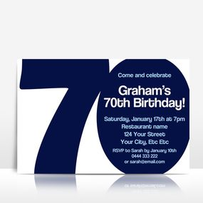 The BIG 7-0 birthday invitation