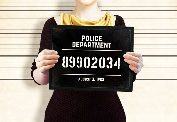 Prohibition party supplies: mugshot sign, photo booth prop or a party decoration. Roaring 20s printable party Sign. Great Gatsby party decor by PartyGraphix on Etsy https://www.etsy.com/listing/227607860/prohibition-party-supplies-mugshot-sign