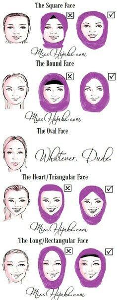 Best hijab style for each face shape