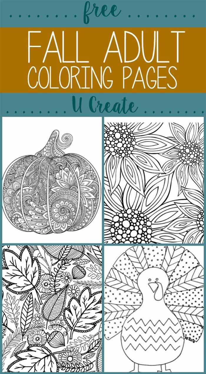 Long u coloring pages - Free Fall Adult Coloring Pages