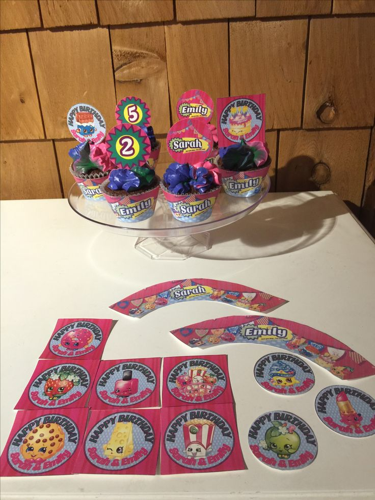 Printable Shopkins cupcake toppers and wrappers