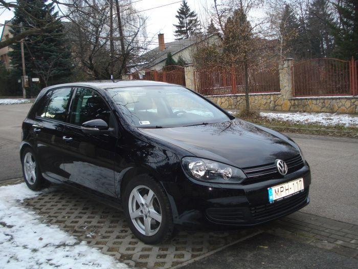 VW GOLF 1.6 fekete színű MPH-117 rendszámú autó, 2009-es évjárat