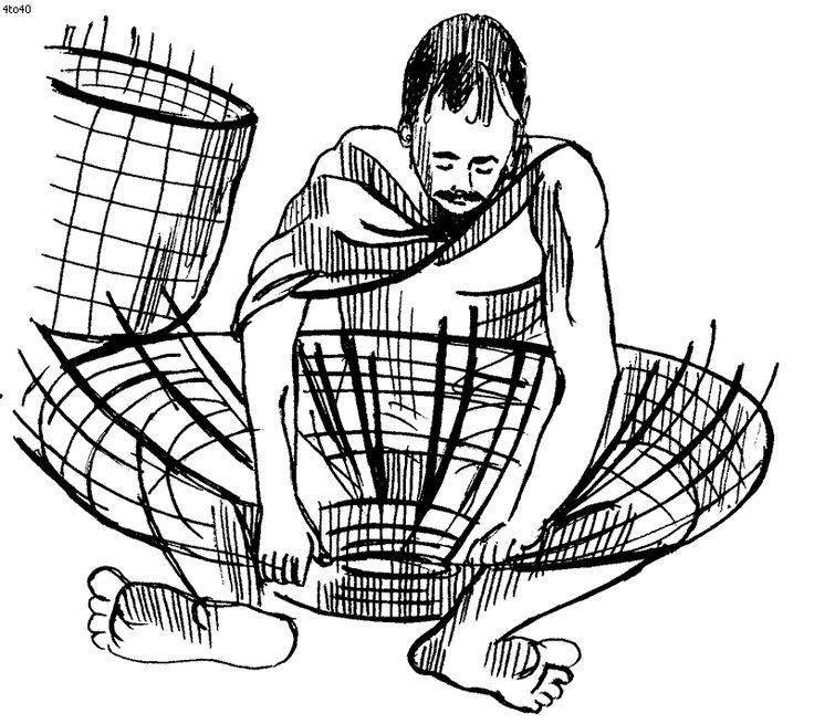 weaving coloring pages - photo#17