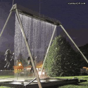 Water swings! This would be a blast!
