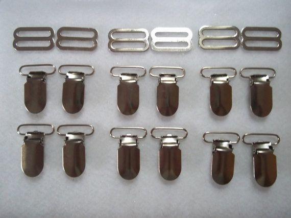 Suspender Hardware-Suspender Clips-Suspender Clip Set-Suspenders-3 Sets Suspender Hardware