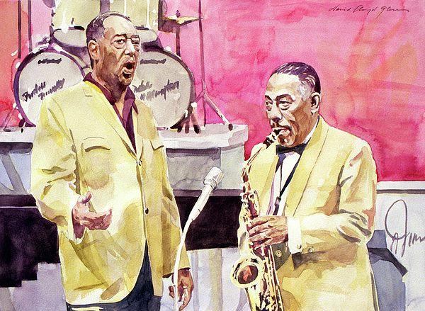 David Lloyd Glover - watercolor Duke Ellington and Johnny Hodges