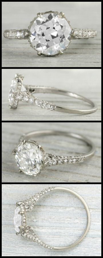 i like the low-profile design! This amazing 2.03 carat is designed by J.E Caldwell, so antique , so lovely, circa 1920, found by Diamonds in the Library.