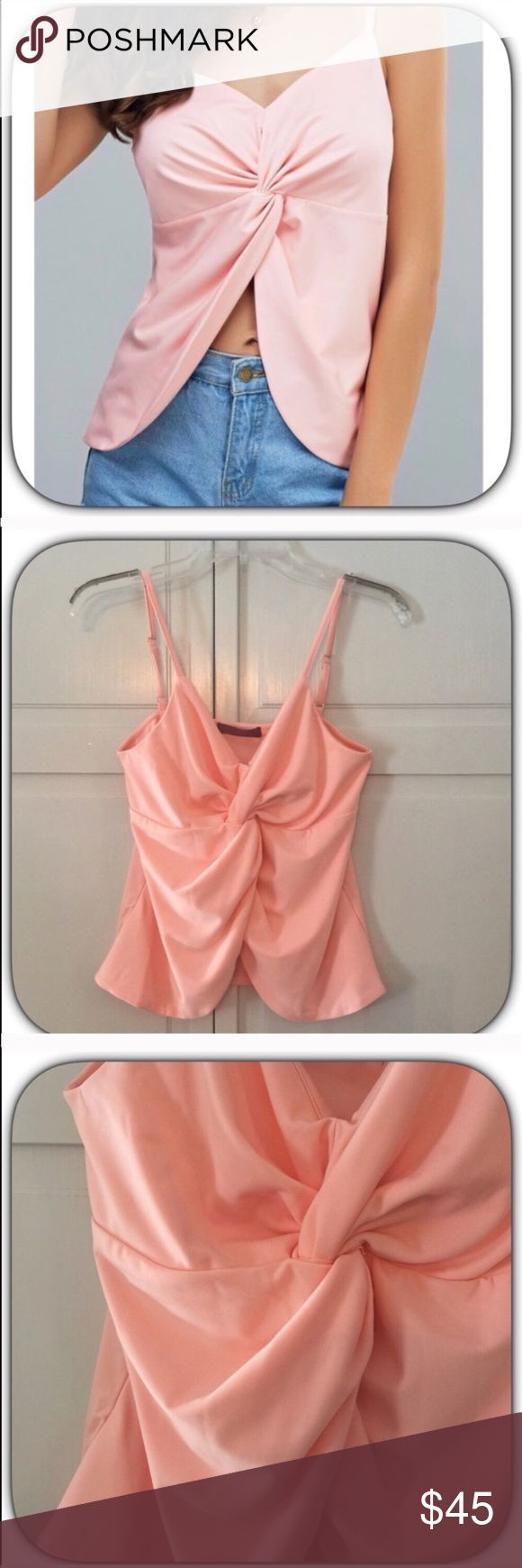 JUST IN! NWT Alluring Pretty Pink Cami Top Wow! This is a sweet top! The color is a soft pink! It has adjustable straps and it is lightly padded for some support! It is very soft and so comfortable! Bust 26 Length 23 Boutique Tops Tank Tops