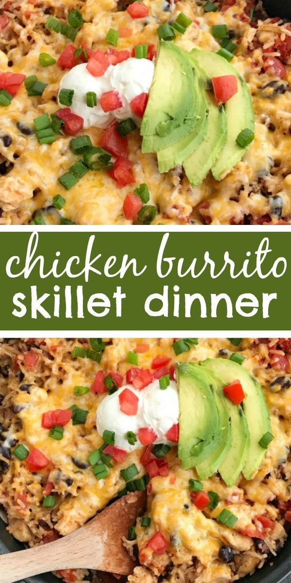 Chicken Burrito Skillet | 30 Minute Dinner | Skillet Recipes | One Pot | One Pan | Mexican Food | Ch…