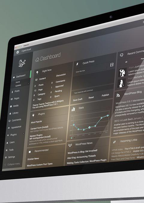 Version du #dashboard | #Redesign de #Wordpress