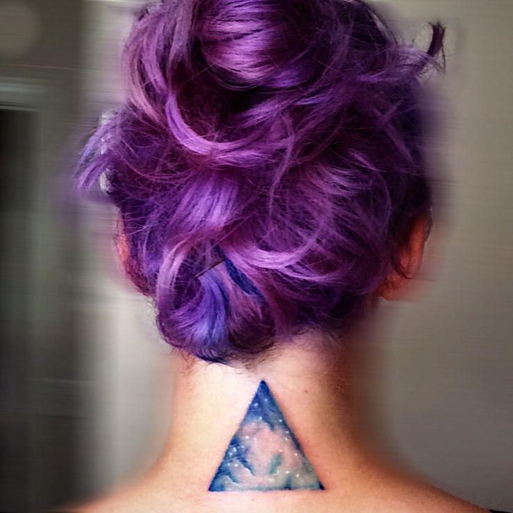 Northern lights. #triangletattoo #geometrictattoo #watercolortattoo #tattoo…