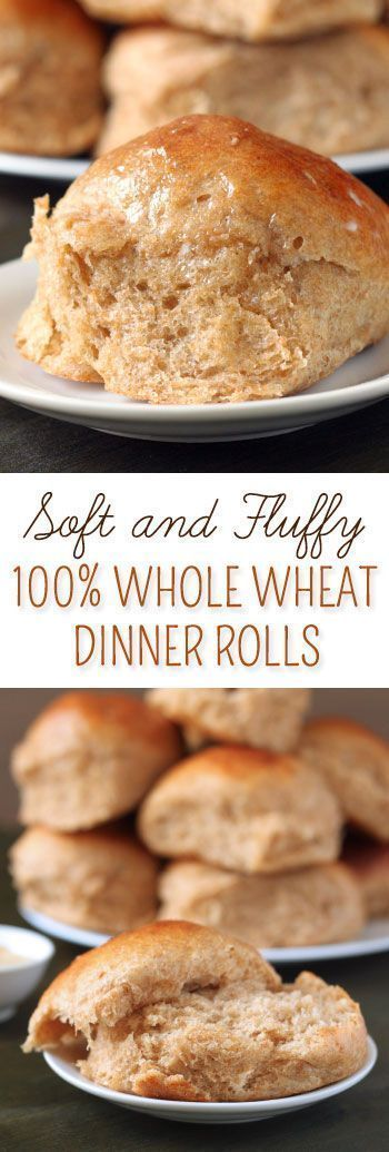 These 100% whole wheat dinner rolls are fluffy, stay soft for days, and make excellent sandwiches!