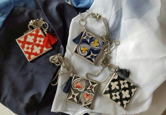 Fios em Azulejo feitos e pintados á mão  Hand made