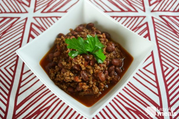 Easy Chilli Con Carne Recipe Main Dishes with minced beef, kidney beans, tomato paste, crushed tomatoes, chili flakes, cumin, oregano, pepper, salt