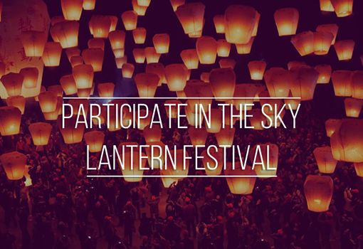 "54. Bucket list item - Participate in the Sky Lantern Festival. Mike gave us this idea as a big fan of lamps and any kind of lanterns. The festival is in Taiwan, but as he wrote: ""I am living on the other part of the world, but I will go there once for sure!"" #taiwan"