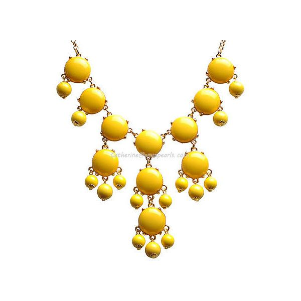 Mini Bubble Bib Necklace, Yellow Bubble Necklace, Small Bubble Jewelry... ($9.90) ❤ liked on Polyvore featuring jewelry, necklaces, accessories, yellow jewelry, mini necklace, yellow bib necklace, bib necklace and yellow necklace