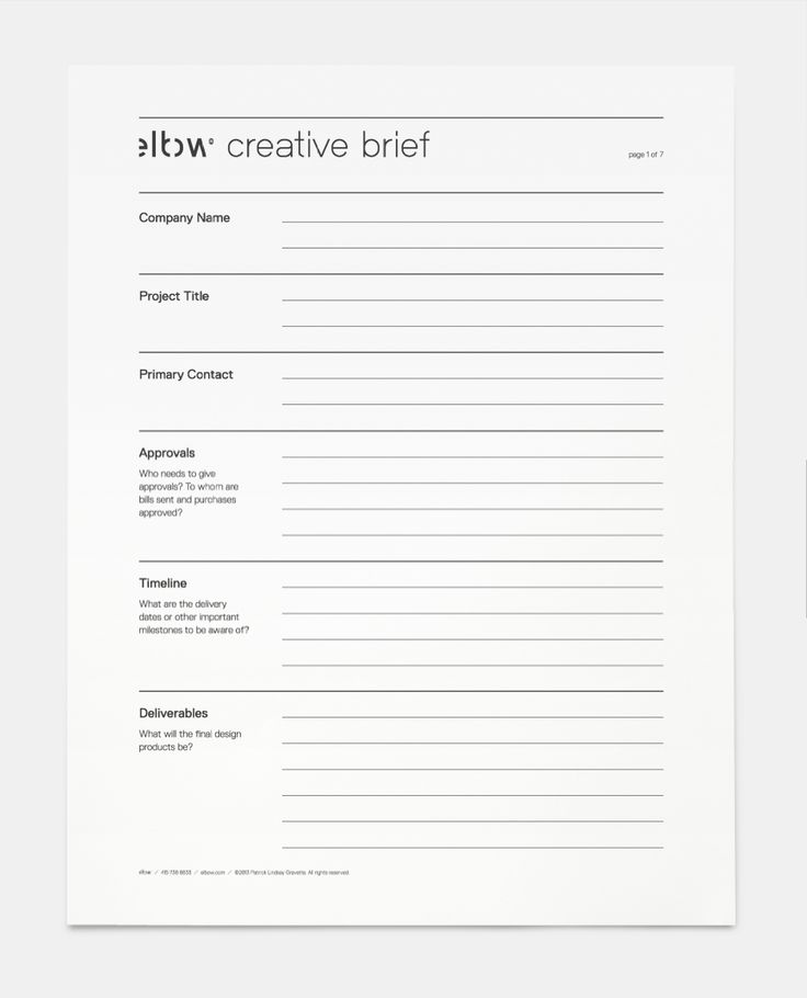 7 best Strategy \/ Account Planning images on Pinterest Briefs - project brief template