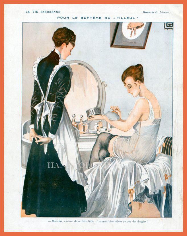 LA VIE PARISIENNE......DE GEORGES LEONNEC........1916.....SOURCE HANDCOLOURING.CO. UK.............
