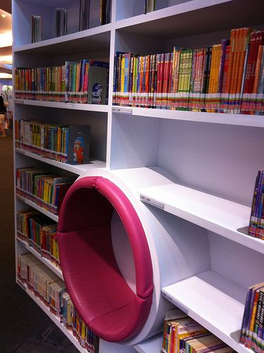 Seating in the children's area, Sengkang Public Library, Singapore