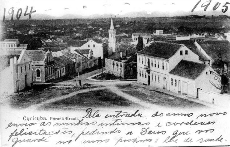 Vista da praça Garibaldi em 1904. Foto: Acervo Ippuc. Arquivo - Os primeiros movimentos do planejamento urbano de Curitiba - Álbum - Prefeitura de Curitiba