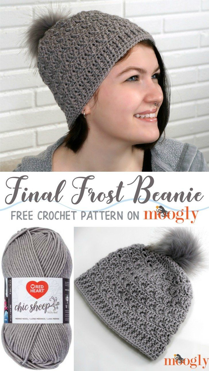 a9f51265648 Final Frost Beanie free crochet pattern in Chic Sheep by Marly Bird yarn  from Moogly.